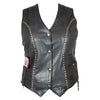Women's Stud Accent Leather Gunslinger Vest