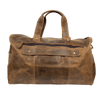 Distressed Leather Duffel Bag