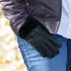 Women's Shearling Lined Leather Gloves