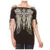 Women's Off the Shoulder Cross Wing Top