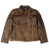 Women's Vintage Biker Style Leather Jacket