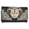 Women's Owl Embroidered Trifold Wallet