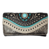Women's Turquoise Stone Trifold Wallet