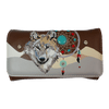 Women's Wolf and Dreamcatcher Trifold Wallet