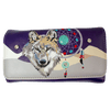 Women's Wolf and Dream Catcher Trifold Wallet