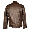 Men's Zip Pocket Leather Racer Jacket