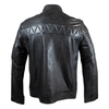Men's Ribbed Shoulder Leather Racer Jacket