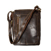 Tall Leather Messenger Bag