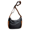 Zip Top Leather Cross Body Bag