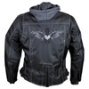 Women's Zip-Out Hoodie ReflectiveTextile Motorcycle Jacket