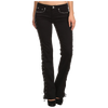 Side Lacing Women's Black Jeans