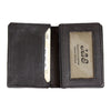 Distressed Leather Business Cardholder Wallet