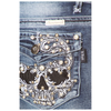 Skull Rhinestone Light Wash Jeans