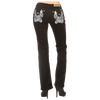 Cycle Wing Bootcut Black Jeans