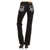 Skeleton Wing Women's Black Jeans