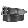 Plain Black Men's Leather Belt