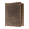 Distressed RFID Tri-Fold Wallet