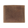 Men's Flap Up Distressed Bifold Leather RFID Wallet