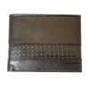 Men's RFID Leather Center Emboss Trifold Wallet