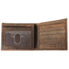 Men's Distressed Bifold Leather Wallet