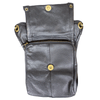 Small Distressed Leather Thigh Bag with Waist Belt