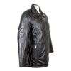 Women's Long Zip Up Leather Jacket