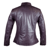 Women's Zip Pocket Leather Jacket