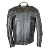 Men's Reflective Piping Leather Motorcycle Jacket