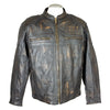 Distressed Leather Cyle Jacket