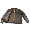 Men's Distressed Leather Motorcycle Jacket