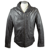 Men's Full Zip Distressed Leather Jacket