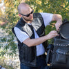 Men's Zip-Up Tactical Leather Vest