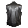 Men's Leather Vest Grey Flannel Interior