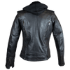 Women's Hooded Classic Leather Motorcycle Jacket