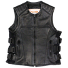 Women's Zip-Up Tactical Leather Vest