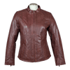 Women's Zip Up Leather Jacket