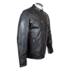 Men's Snap Collar Leather Jacket