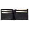 Men's Double Flip Up Bifold Leather Wallet