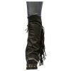 Women's Side Fringe Leather Half Chaps