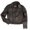 Women's Double Zip Biker Style Leather Jacket