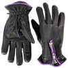 Black & Purple Cycle Gloves