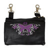 Butterfly Leather Clip bag