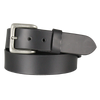 "Solid Black Leather 1.5"" Belt"