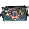 Sugar Skull Embroidered Handbag & Wallet