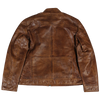 Men's Cognac Brown Leather Jacket