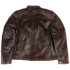 Burnish Brick Leather Jacket