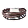 Leather & Hematite Android USB Bracelet