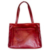 Zip Top Leather Tote Bag