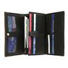 Women's Organizer Trifold Leather Wallet