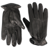 Polar Fleece Black Deerskin Gloves